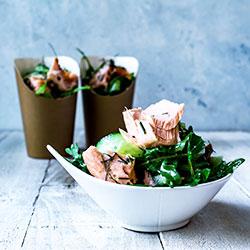Thyme baked salmon salad thumbnail