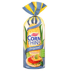 Real Foods Corn Thins - 150g thumbnail