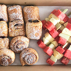 Danish pastry and fruit platter thumbnail