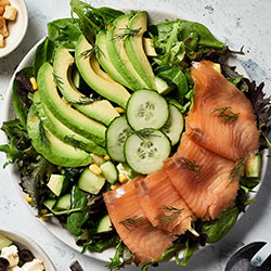Salmon avocado salad thumbnail