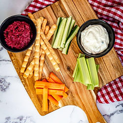 Veggie sticks with dip thumbnail
