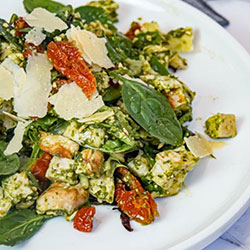 Chicken pesto salad thumbnail