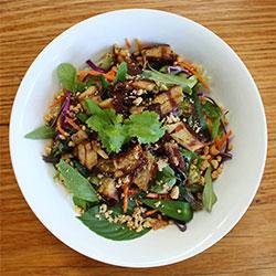 Grilled vegan vermicelli noodle salad thumbnail