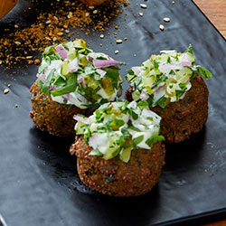 Molten bocconcini falafel thumbnail