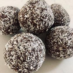 Chocolate fudge and coconut bliss balls thumbnail