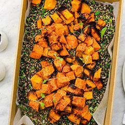 Caramelised pumpkin salad thumbnail