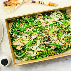 Poached chicken salad with salsa verde thumbnail