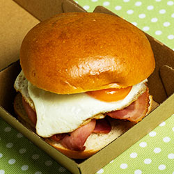 Double egg and bacon roll thumbnail