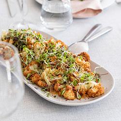 Cauliflower and chickpea salad thumbnail