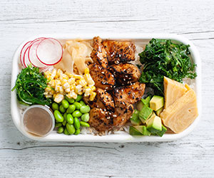 Teriyaki chicken poke bowl thumbnail