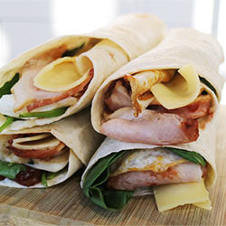 Egg, bacon and cheese wrap thumbnail