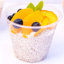 Coconut chia pudding cup - 250ml thumbnail