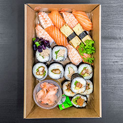 Assorted Nori rolls and sushi pieces - mini thumbnail