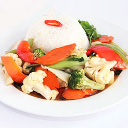 Stir fried vegetables and rice thumbnail
