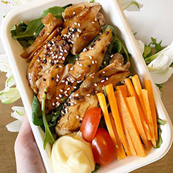 Chicken teriyaki salad thumbnail
