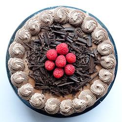 Raspberry chocolate cake - 8.5 inch thumbnail