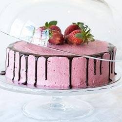 Vegan berries cake - 8.5 inch thumbnail