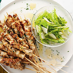 Satay chicken skewers thumbnail
