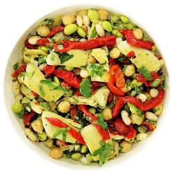 Mediterranean chickpea salad thumbnail