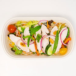 Healthy Vietnamese noodle salad with chicken thumbnail