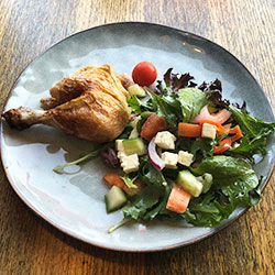 Bbq chicken - 1/4 with salad and bread roll thumbnail