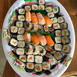 Sushi and California rolls platter thumbnail