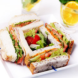 Gluten free roll and sandwich combination thumbnail