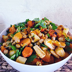 Roasted root vegetable salad thumbnail