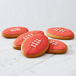Red football cookies thumbnail