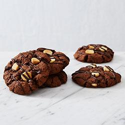Triple chocolate fudge cookies thumbnail