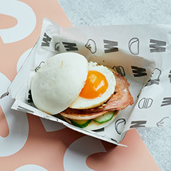 Breakfast bao burger - mini thumbnail
