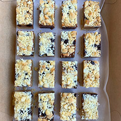 Caramel and macadamia crumble slice thumbnail