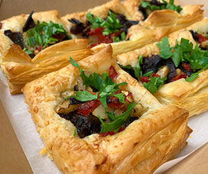 Savoury puff pastry squares thumbnail