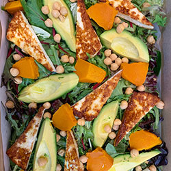Avocado and haloumi salad thumbnail