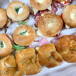 Mini bagels and croissants - serves 8 to 12 thumbnail