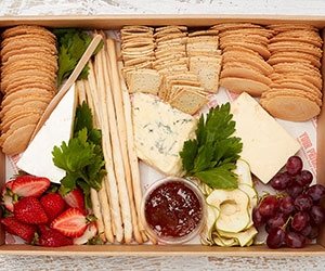 Gourmet cheese and fruit platter thumbnail