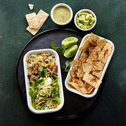 Burrito bowl and chips lunch thumbnail