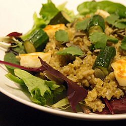 Freekeh and roasted vegetables salad thumbnail